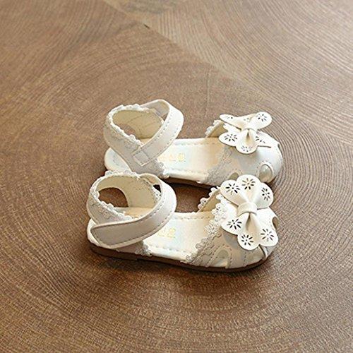 Jamicy® Babyschuhe, Baby Mädchen Sommer Mode Blume Bowknot Spitze Prinzessin Sandalen Schuhe Weiß