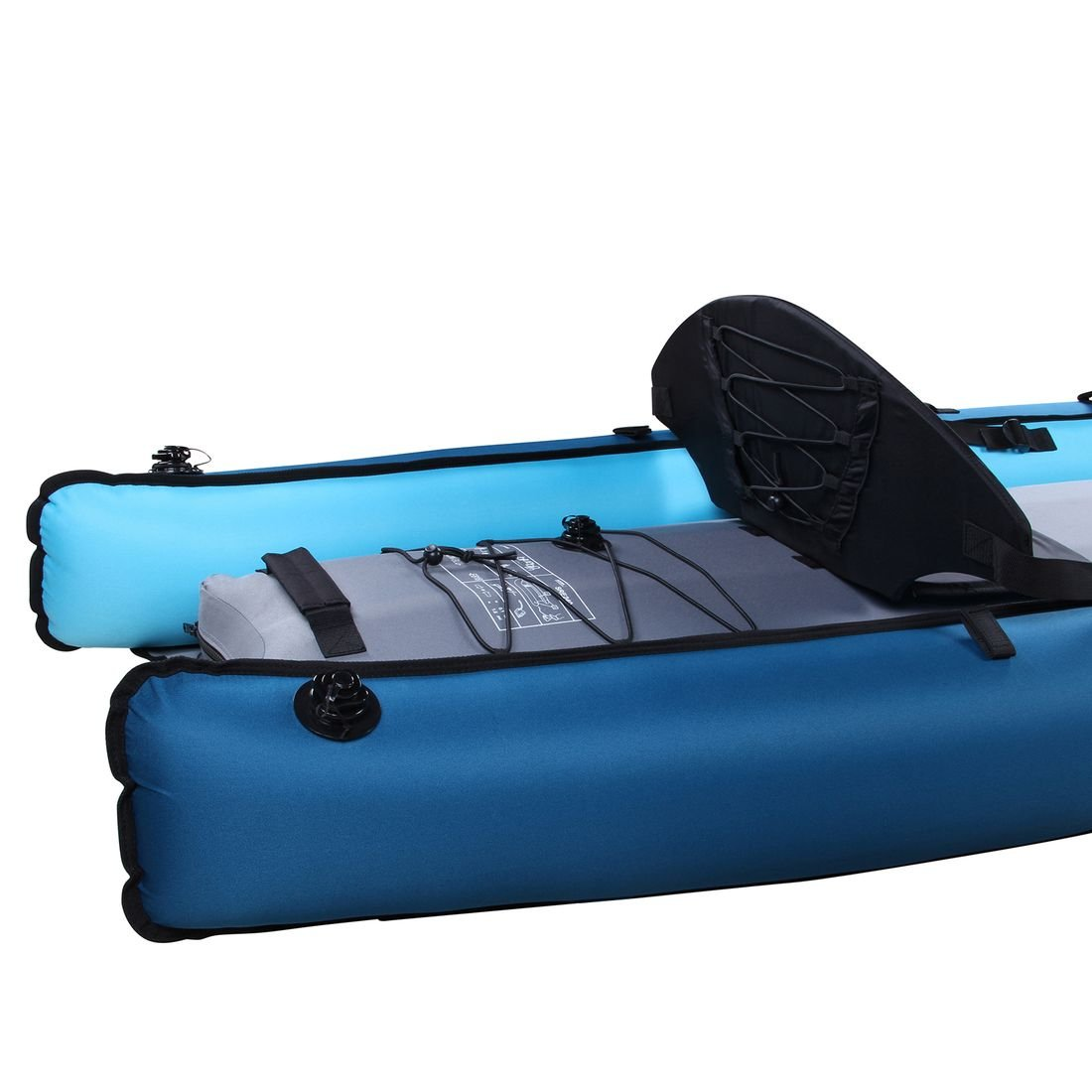 Kayak Blueborn Coasteer SRE240 Sit-On-Top Boat 1 Persona 240x88 cm Canoa Bote Inflable Azul