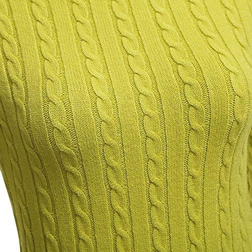 ZAFUL - Vestido - trapecio - para mujer Verde Limón