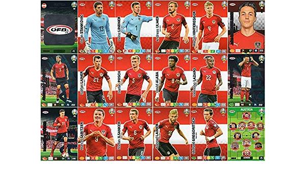 Panini Adrenalyn Xl Uefa Euro 2020 República Checa conjunto completo de equipo de tarjeta de 18-Euros