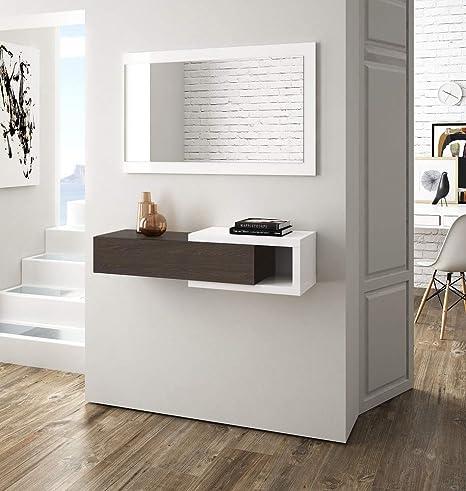Salón Tienda en línea Kit Mueble de Entrada Cajón + 1 Espejo ...