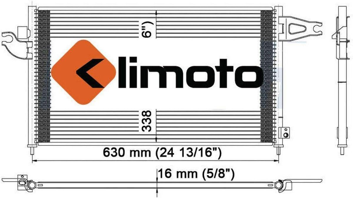 Klimoto Brand New Condenser fits Acura RSX 2002 2003 2004 2005 2006 2.0L L4 AC3030117 80110S6MA01 7-3060 3060HE SBC3060 CND3060 DPI3060