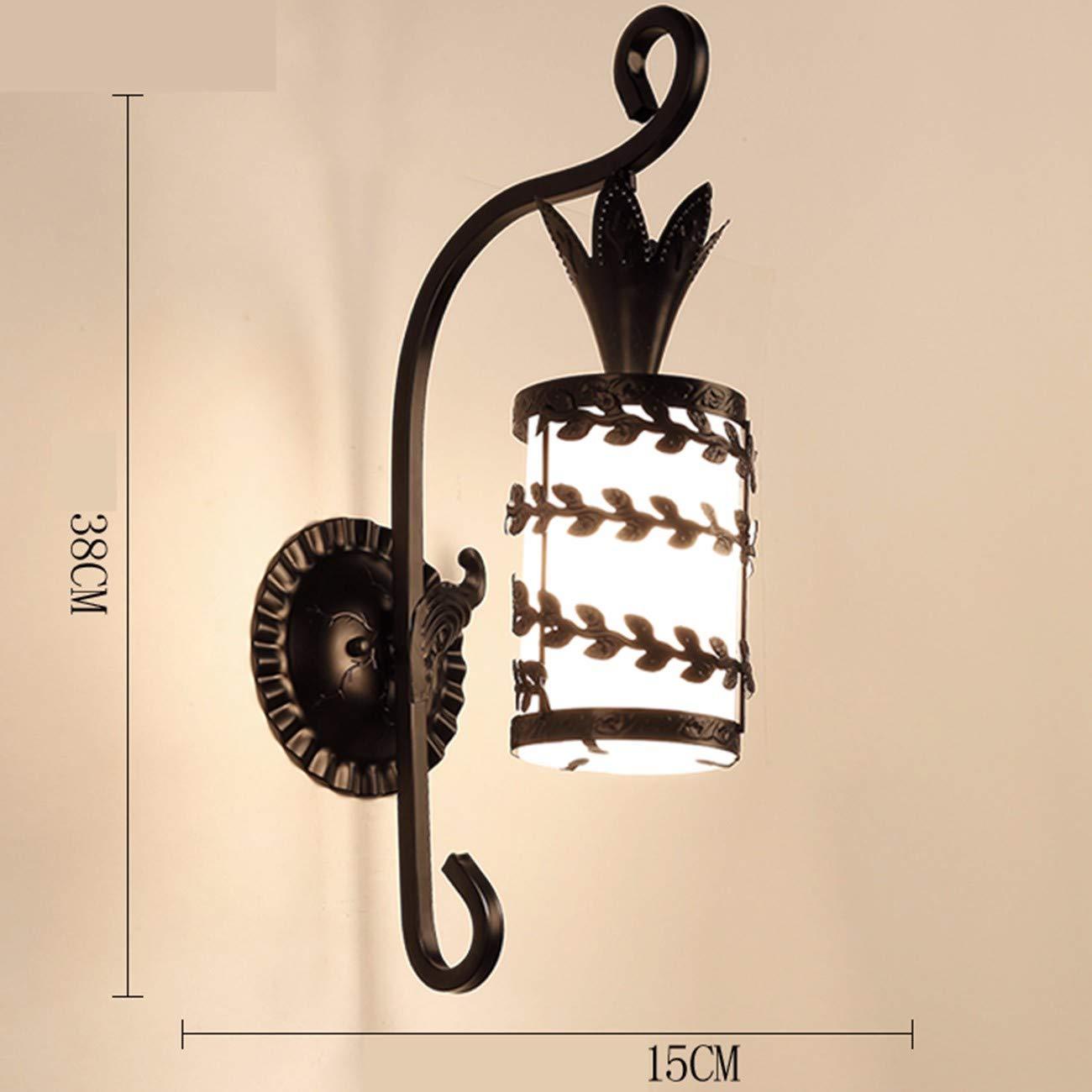 Wandleuchte einfaches Schlafzimmer Nachttischlampe Gangstiege Lampe, F
