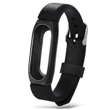 Correa de metal Fcostume para reloj Xiaomi Mi Band 2, color negro