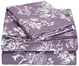 Pinzon 170 Gram Flannel Sheet Set - Twin, Floral Lavender