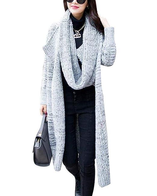 Chaqueta De Punto Mujer Primavera Otoño Largos Cardigan Elegante Color Sólido Outerwear Fashion Sencillos Cómodo Bonita