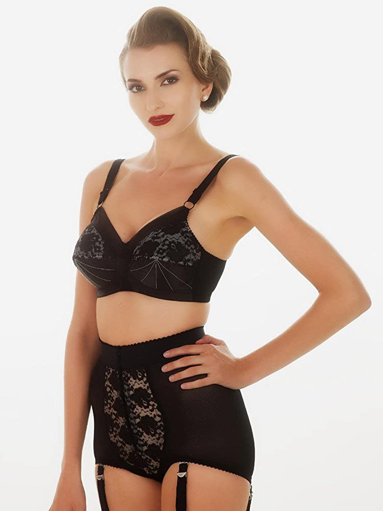 c465fa5e98 What Katie Did Vintage Lace Panty Girdle With Suspenders  Amazon.co.uk   Clothing