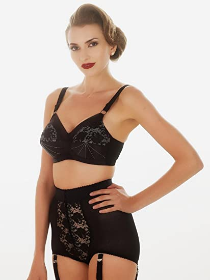 5964cbe7cdc What Katie Did Vintage Lace Panty Girdle With Suspenders  Amazon.co.uk   Clothing