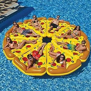 XCXDX Fila Flotante Inflable De La Pizza Divertida, Balsas ...