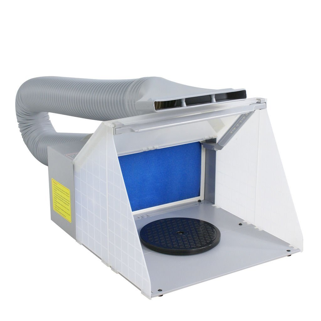 Weberdisplays Portable Hobby Airbrush Spray Booth for Painting Art, Cake, Craft, Hobby, Nails & More. Includes Exhaust Extension Hose.