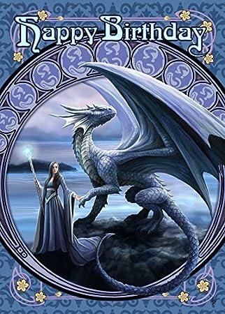 New Horizons Dragon Fantasy Art Nouveau Anne Stokes Birthday