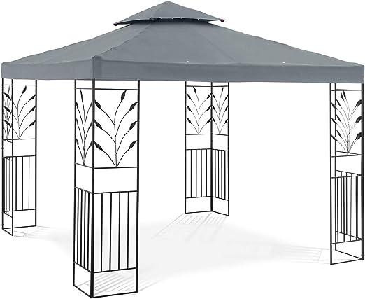 Uniprodo Pérgola De Metal Pabellón para Jardín Uni_PERGOLA_3X3T ...