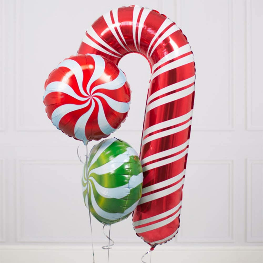 Christmas Candy Cane Balloons Party Decorations 20PCS Winter Holiday//Xmas//New Year//Candy Party Decorations Supplies