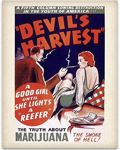 Devil's Harvest - The Truth about Marijuana Art Print - 11x14 Unframed Art Print - Great Rehabilitation Center Wall Sign by Personalized Signs by Lone Star Art