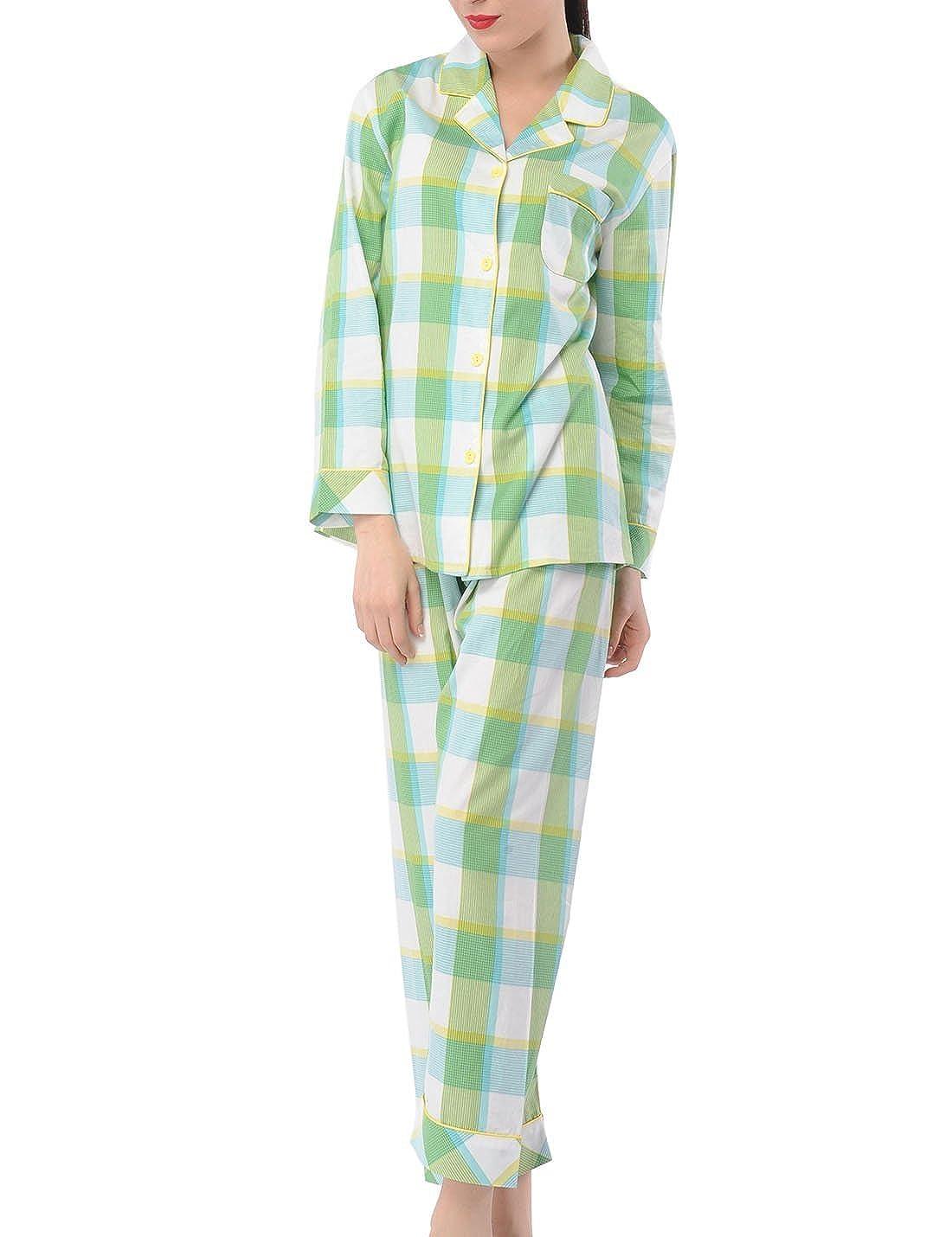 6709cd66a3c3 LIQQY Women s Pajamas Comfy Cotton Long Sleeve Sleepwear Two Pieces PJ Set  XS-XXL at Amazon Women s Clothing store