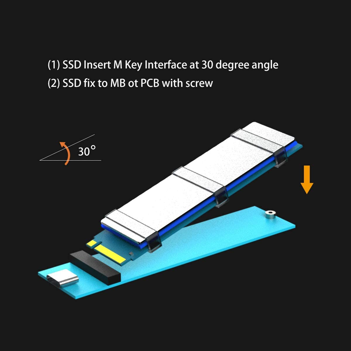 M.2 Screw Kit and Laptop M.2 Heatsink for ASUS//MSI//Gigabyte etc MB