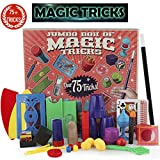 PinSpace Jumbo Magic Tricks Set for Kidswith Over 75 tricks, classic illusions, Mysterious Levitating Wand, Magic Cup Ball, Coin Tricks, ready to play, idea birthday gift for kids 6 years and up