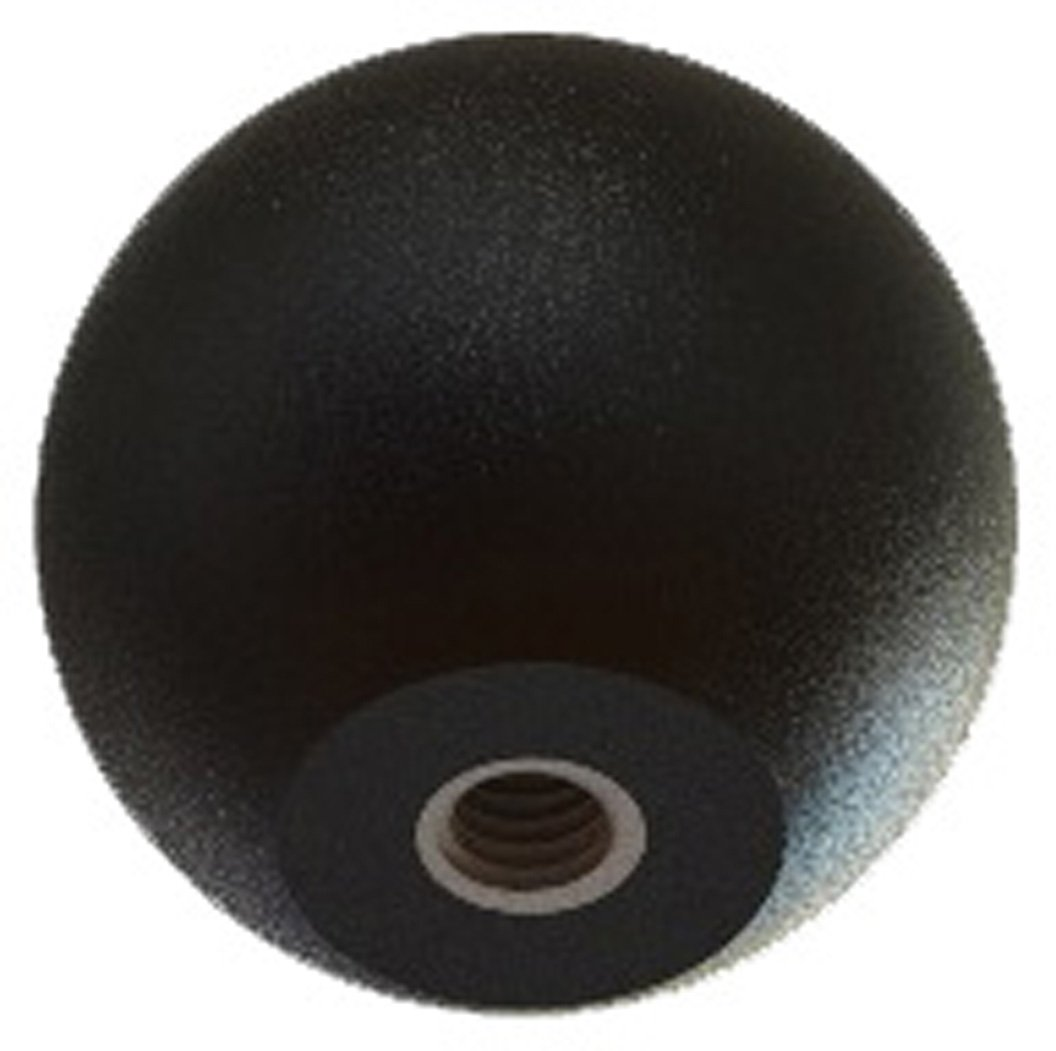 Innovative Components AN6C-B721 1.88'' Ball knob 3/8-16 steel zinc insert black pp (Pack of 10)