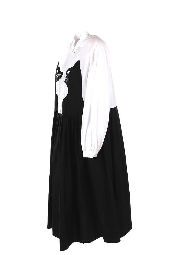 MaxMara Vestido de Las Mujeres 44 Blanco/Negro Spruce Otoño Invierno 2017/18: Amazon.es: Ropa y accesorios