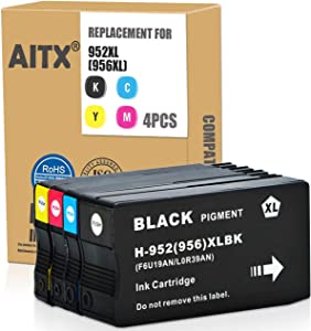 AITX Remanufactured 952XL 952 XL Ink Cartridges for HP 952XL 952 XL Combo Pack Used for OfficeJet Pro 8710 8715 8740 7740 8210 8730 8702 8725 8216 7720 8715 Printer, 4 Packs