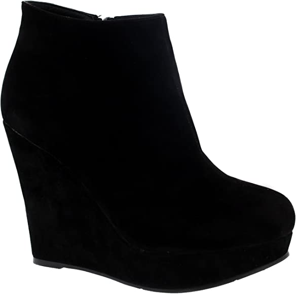 Womens High Wedge Heel Ankle Boot