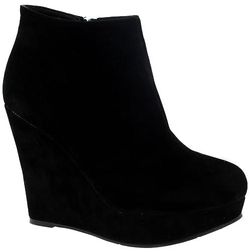 Wedge Platform Boots Amazon Co Uk