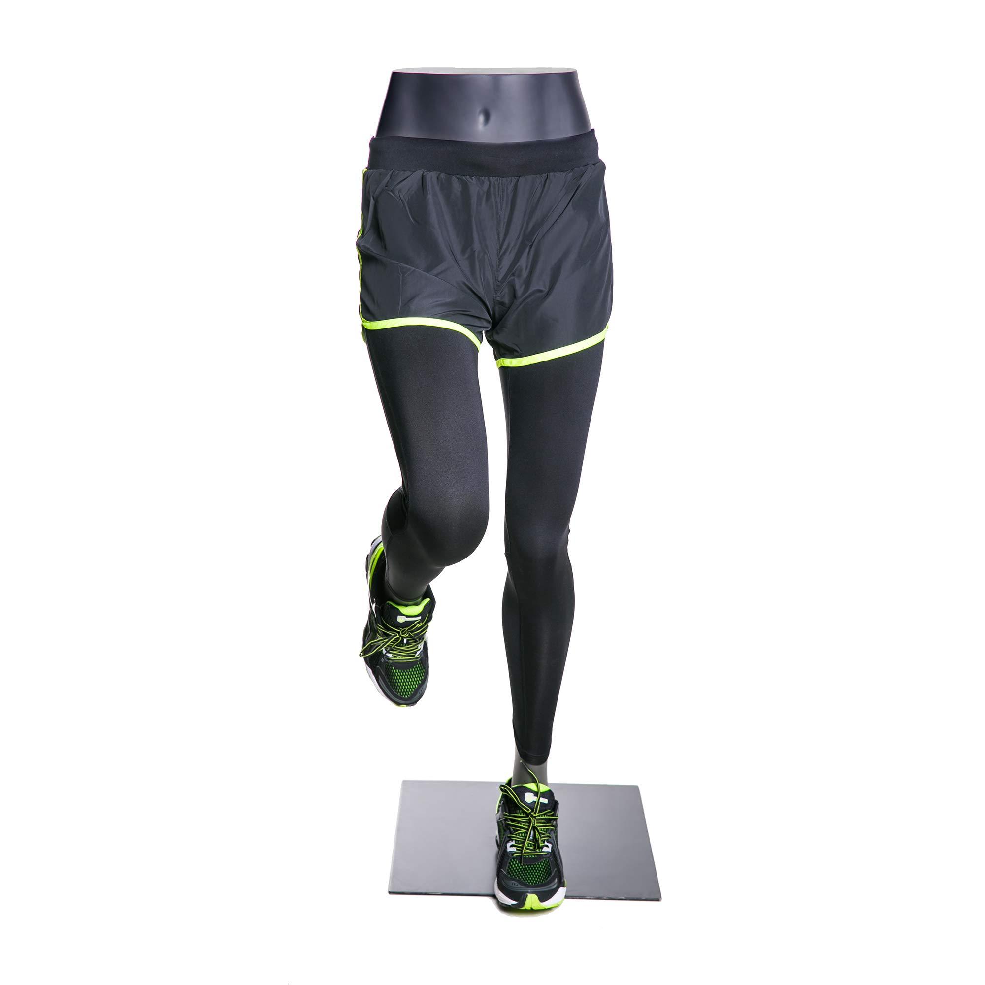 (MZ-HEF51LEG) High end Quality. Eye Catching Female Headless Mannequin Leg, Athletic Style. Running Pose.