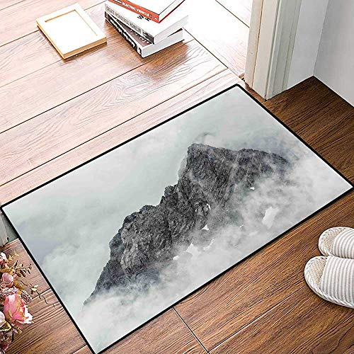 Mountain Door Mats for Home Landscape of Jade Dragon Mountain Atmosphere on Summit Asian Natural Beauty Image Bath Mat for Bathroom Mat 16