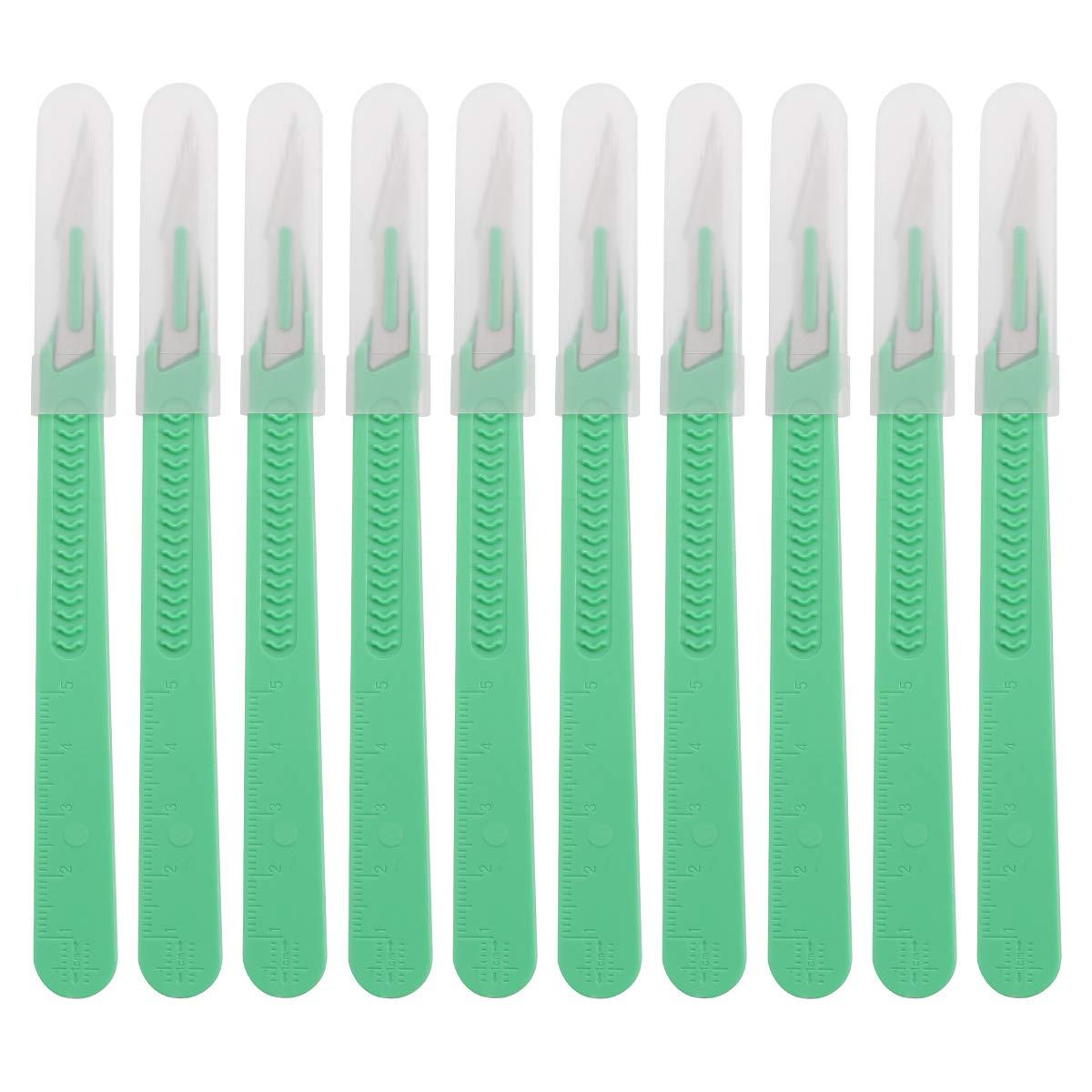 UKCOCO 10 piezas desechables de plástico cuchillo quirúrgico bisturí multifunción Scrapbooking artesanía herramientas cuchillo de talla (SS-1)