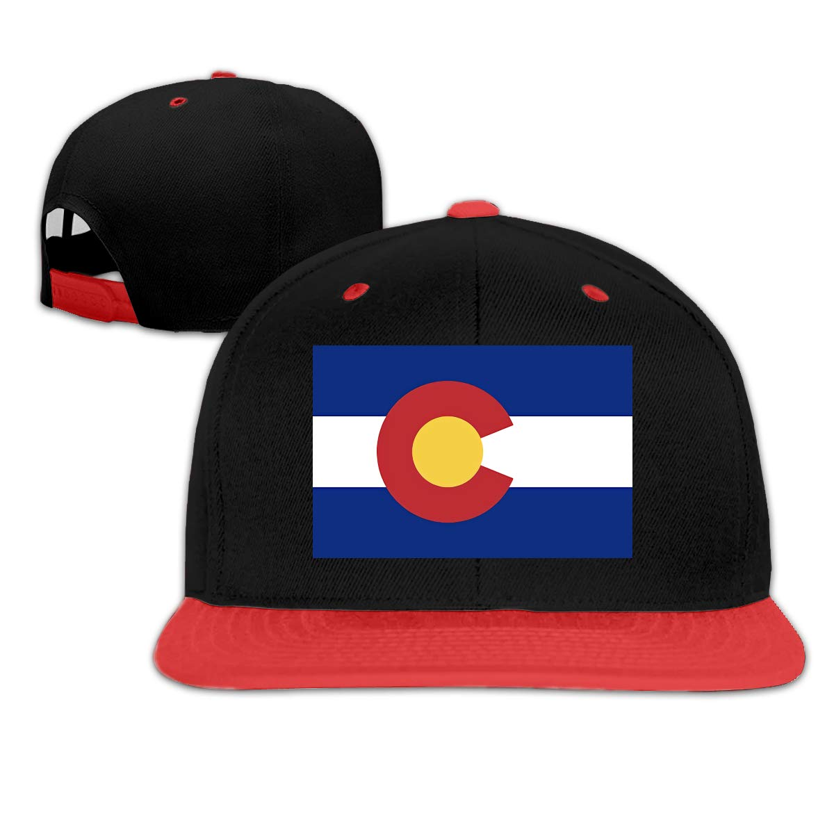 Rodney L Robbins Colorado Flag Stylish Unisex Adjustable Trucker Hats