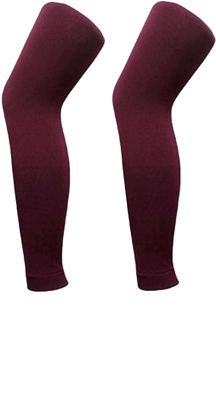 2 Stück Damen Thermo Leggings Blickdicht Super Warm mit Innenfutter Leggins Strumpfhose Legging Unterhose