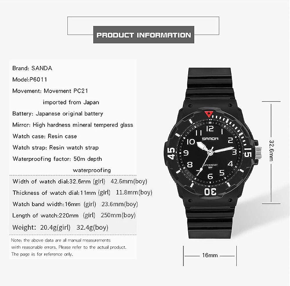 Armbanduhren Mode Sportuhr Jungen Und Mädchen Persönlichkeit Design wasserdichte Kinderuhr Weißes Mädchen