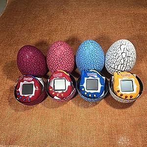 Cavis Electronic Pets Toy Key Digital Pets Tumbler Dinosaur Egg Virtual Pets White