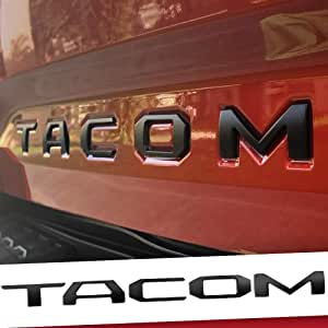 Auto Rover 3D Raised Tailgate Zinc Alloy Letters for TAC fits 2016-2021 Metal Inserts with 3M adhesive backing (Matte Black)
