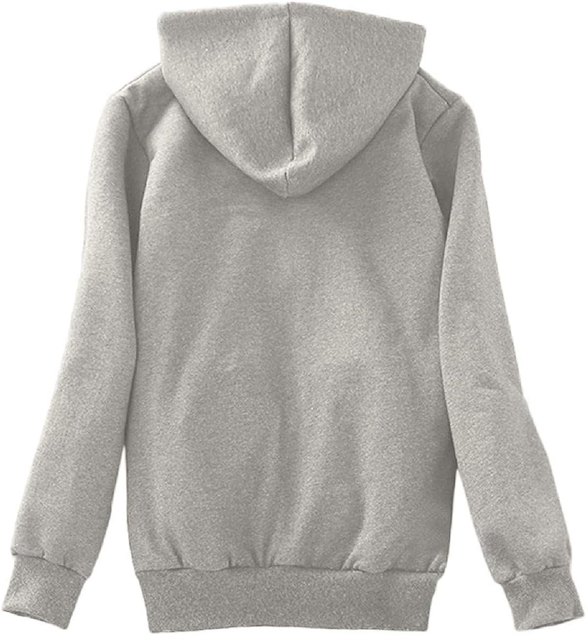FAPIZI Womens Winter Warm Sherpa Lined Outwear Overcoat Zip Up Hooded Sweatshirt Jacket Coat