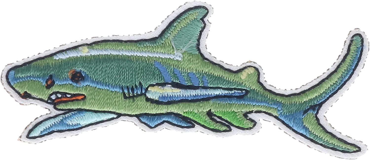 """Shark 2"""" Embroidered Patch AVAS4693kD2"""