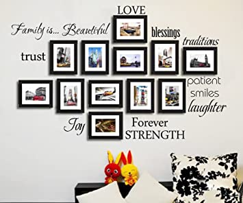 Wonderful Diy Family Wall Clock Frames View Gallery Large Collage