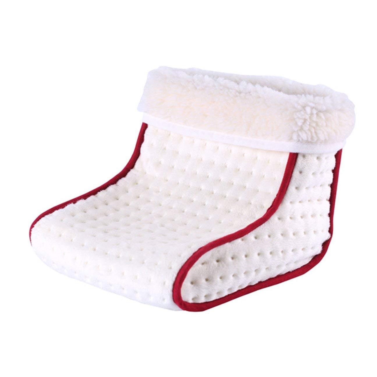 Accogliente Scaldino elettrico riscaldabile a scalda-piedi Scaldapiedi lavabile a caldo 5 modalit/à Impostazioni calore Scaldino termico Scaldapiedi bianco
