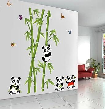Dessin humoristique mignon Panda Stickers muraux en PVC de ...