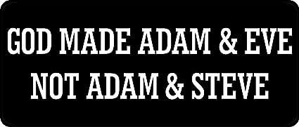 Amazon Com 1080 Graphics 3 God Made Adam And Eve Not Adam And