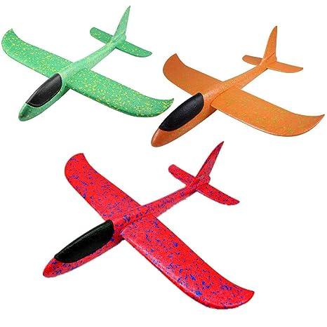 Oumezon 3 Piezas de avión de Lana, Espuma, avión, poliestireno, avión Infantil, avión, Juguete, Exterior, Lanzamiento, Vela, avión, Modelo para niños, ...
