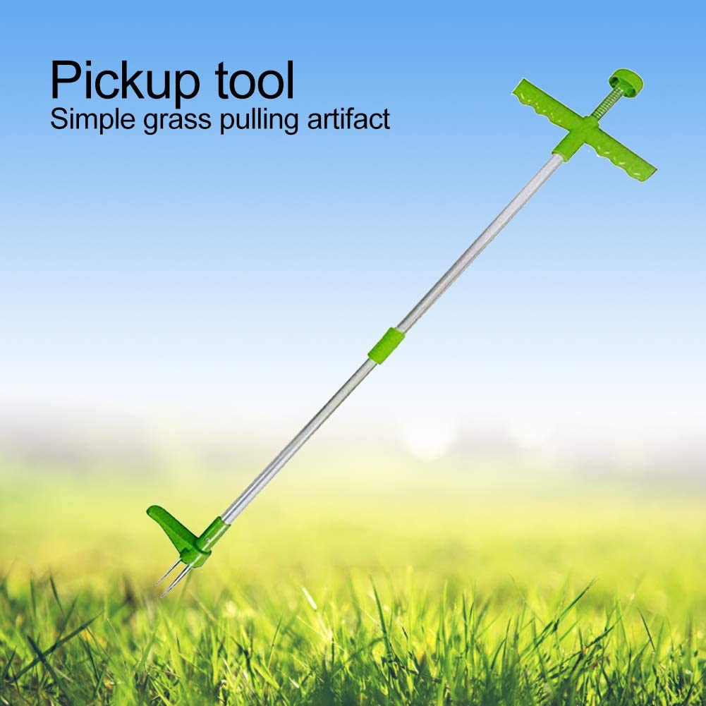 GUCHIS Manual Weeders, 3 Claws Stand Up Weed Puller, Garden Hand Tool with 39 Long Handle and High Strength Foot Pedal : Garden & Outdoor