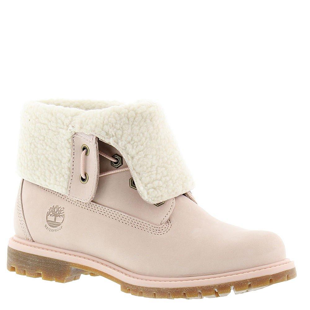Timberland Authentics Teddy Fleece Waterproof Fold-Down Boot Light Pink Nubuck (Womens) (7 B(M) US)