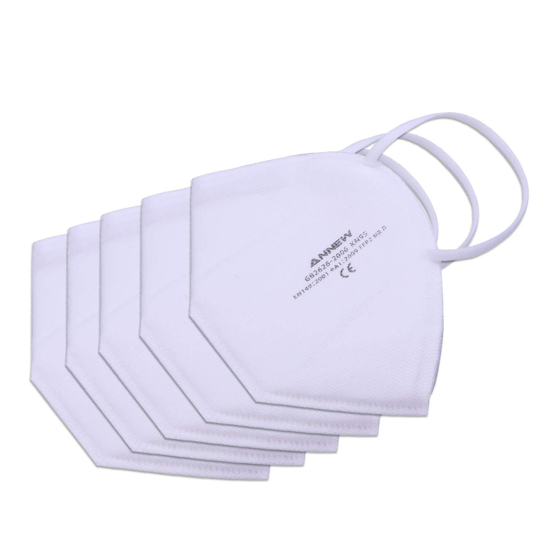 20 Máscaras, Máscara KN95 / FFP2, Máscara Facial Protectora de Respirador de 5 Capas, Máscara para Adultos