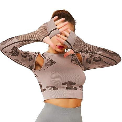 HZH Top de Yoga para Mujer, Camisas de Fitness para Correr ...
