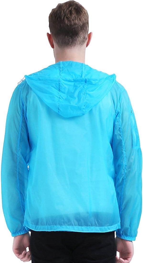 Sidiou Group Fr/ühling Sommer D/ünn Sonnenschutzkleidung Hautmantel UPF50 Anti UV-Schutzkleidung Herren Damen Laufjacken Radjacken Wasserfeste Jacke Schnell Trocknend Mantel
