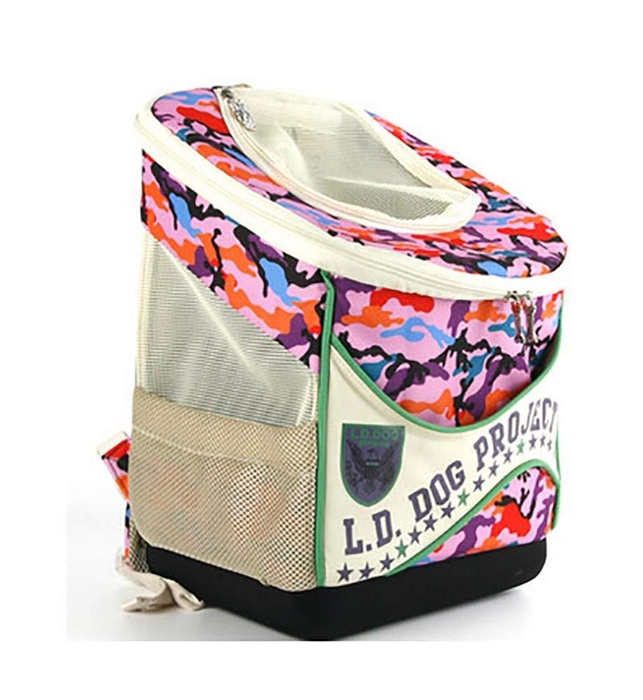 72095259a78ee4 QWhing QWhing QWhing Travel Car Pet 2-in-1 Pet Carrier Passeggino, Zaino  Pieghevole Rimovibile per Cani e Gatti Borsa per Animali Domestici (colore  D) ...