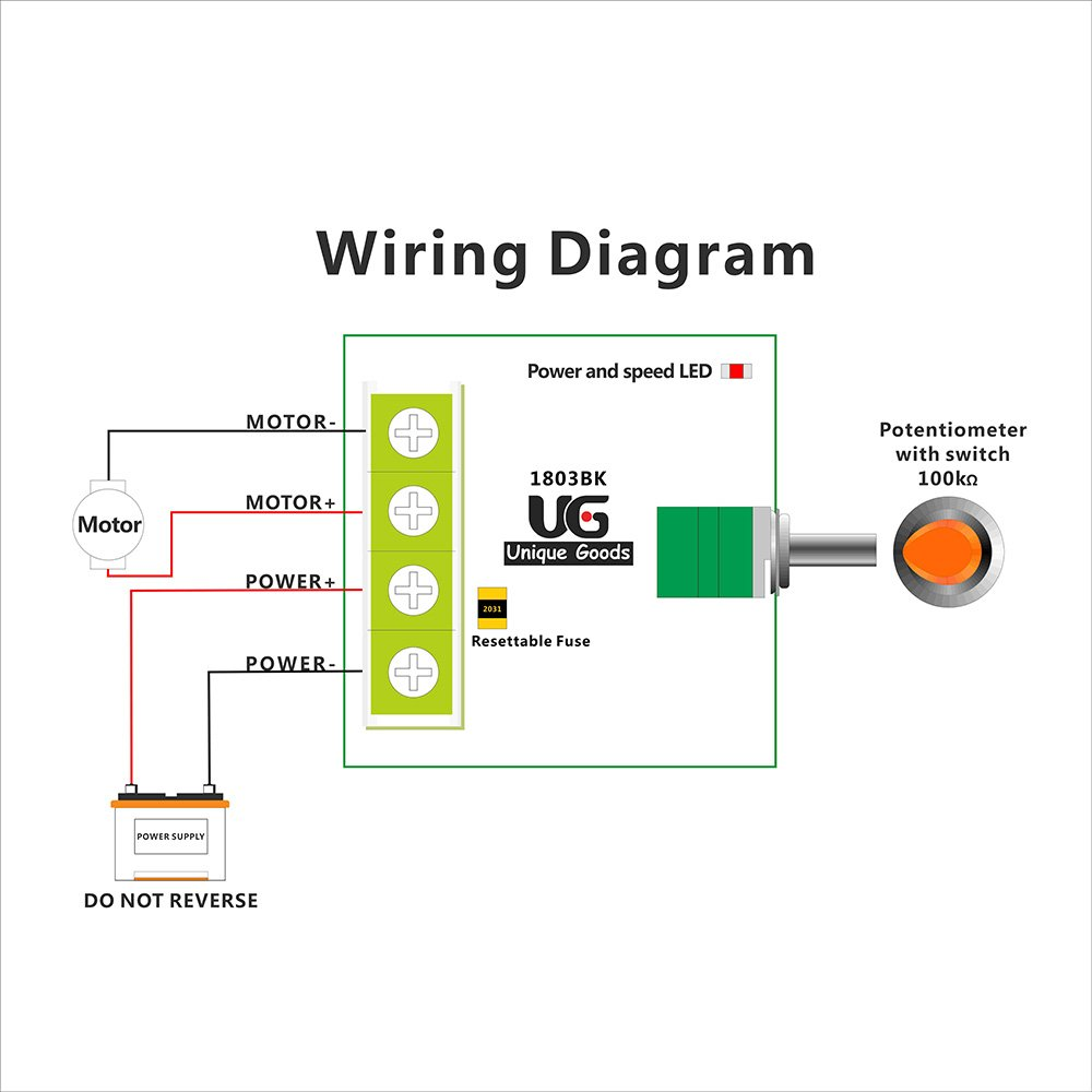 Uniquegoods 18v 3v 5v 6v 72v 12v 2a 30w Dc Motor Speed Controller Pwm Wiring Diagram Price Sign 1803bk Adjustable Driver Switch