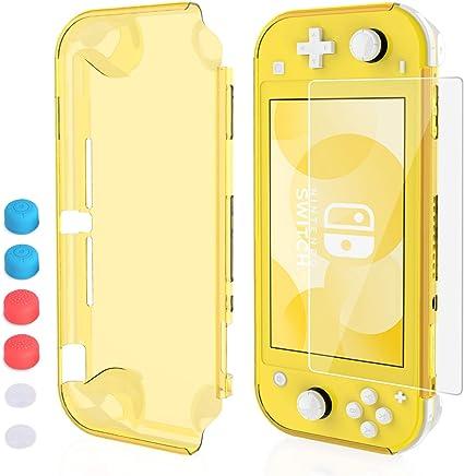 HEYSTOP Funda para Nintendo Switch Lite, Carcasa Nintendo Switch Lite con Protector de Pantalla y 6 Agarres para el ...