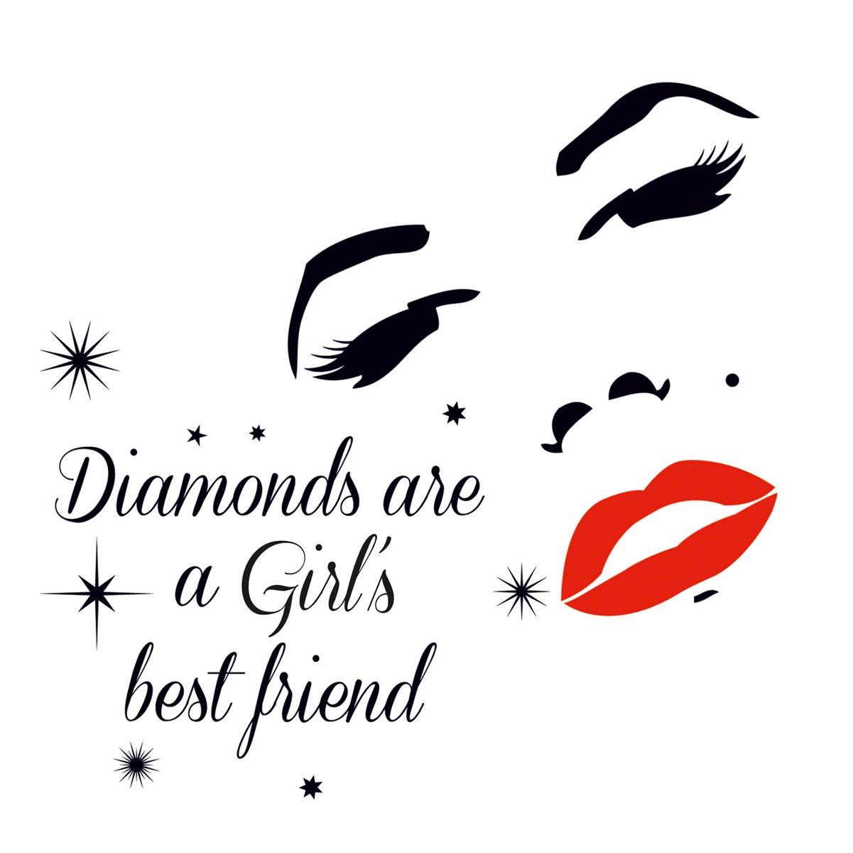 Eurographics DS-AWI1043 Deco Sticker, Wandtattoo, Diamonds are Girls ...